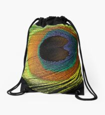 Eye of the Peacock Drawstring Bag