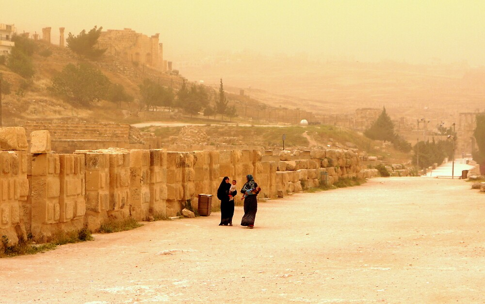 Jerash in a windy day   by Brian Bo Mei