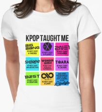 KPOP TAUGHT ME Women's Fitted T-Shirt