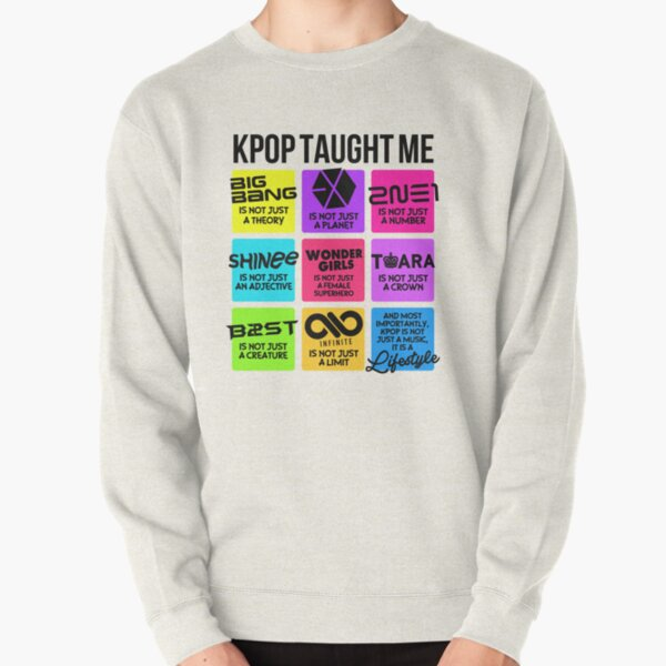 Kpop me ha enseñado Sudadera sin capucha