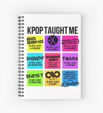 KPOP TAUGHT ME Spiral Notebook