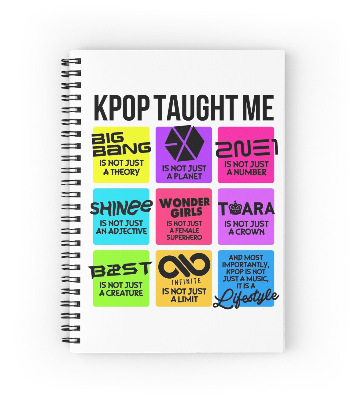 Kpop Taught Spiral Notebooks Skeletonvenus Redbubble