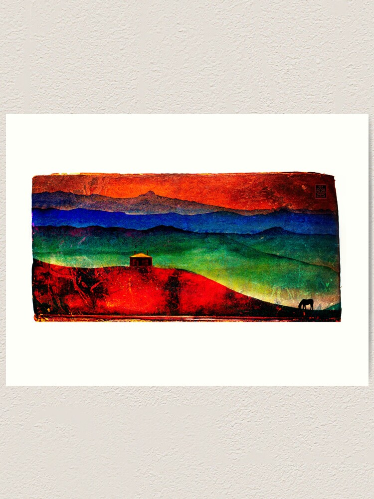 Alternate view of Red Mountains Art Print