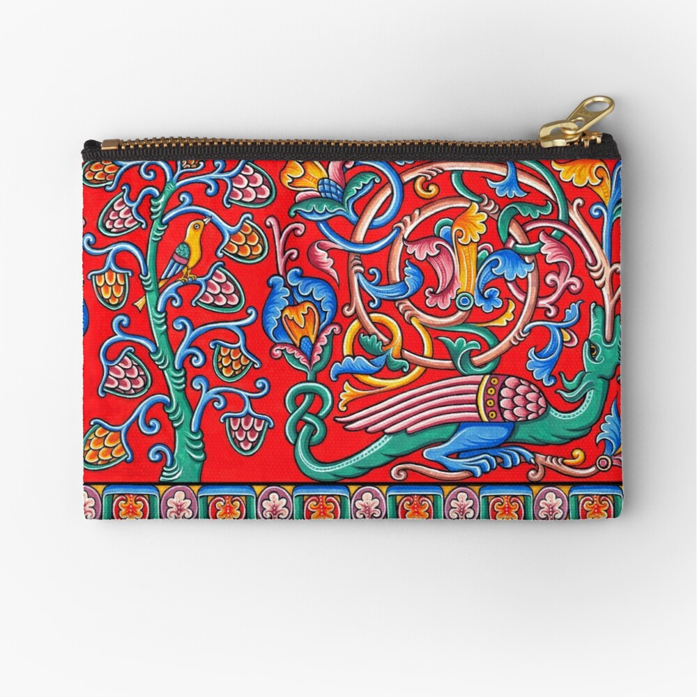 Medieval dragon Zipper Pouch