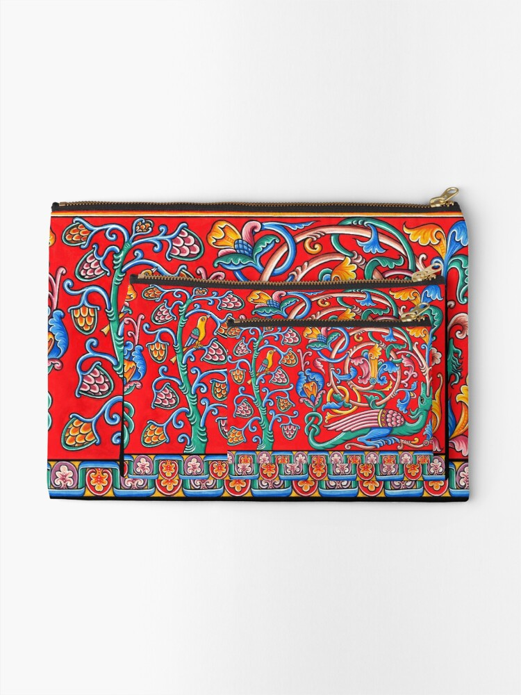 Alternate view of Medieval dragon Zipper Pouch