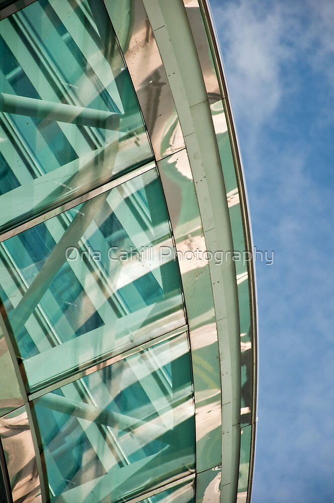 Abstract on Blue by Orla Cahill Photography