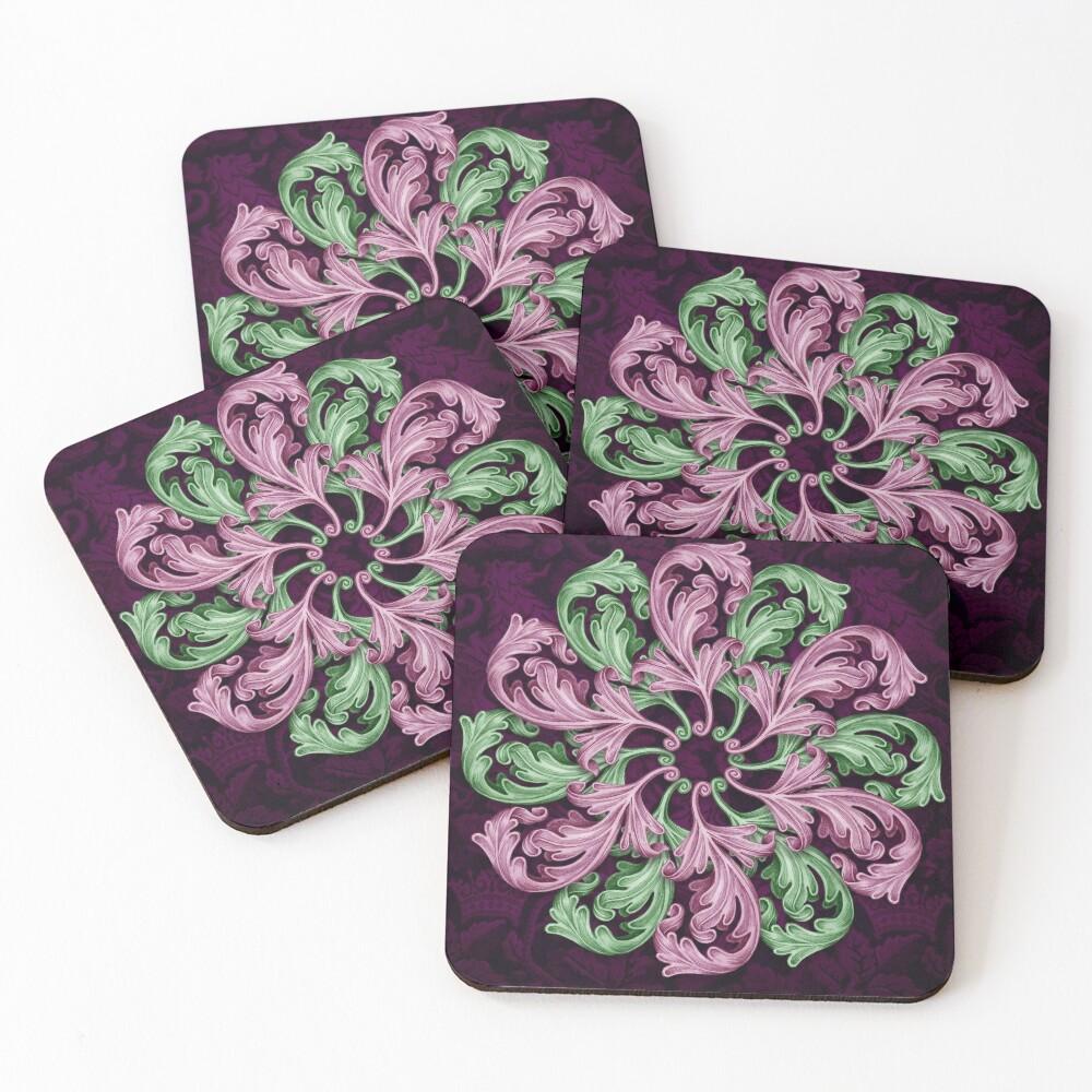 Acanthus mandala Coasters (Set of 4)