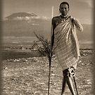 Masai Kilimanjaro by Nigel Fletcher-Jones