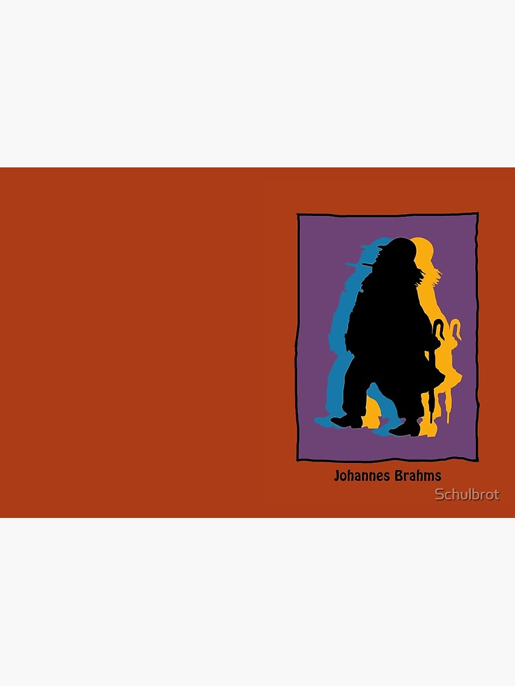 Johannes Brahms in modern colors by Schulbrot
