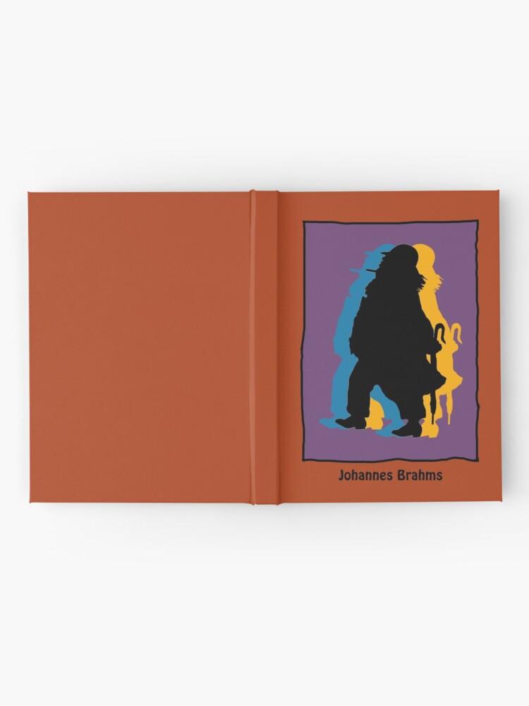 Alternate view of Johannes Brahms in modern colors Hardcover Journal