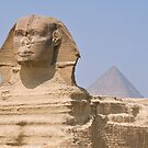 sphinx and pyramid by Michelle McMahon