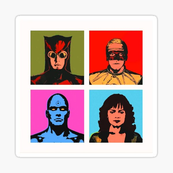 WATCHMEN HBO Andy Warhol Poster Laurie Blake She Was Killed By Space Junk Sticker