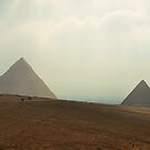 hazy pyramids.. by Michelle McMahon