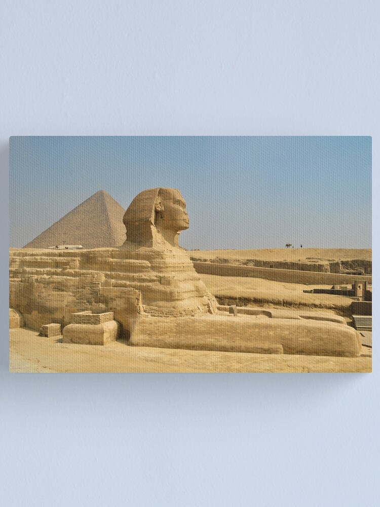 Egyptian Sphinx And Pyramid Wall Picture Art Print