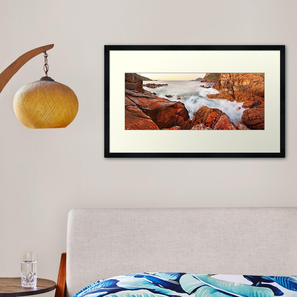 Sleepy Bay Sunrise, Freycinet National Park, Australia Framed Art Print