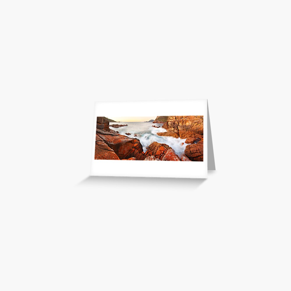 Sleepy Bay Sunrise, Freycinet National Park, Australia Greeting Card