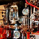 Lantern and Gauges on Fire Truck by Susan Savad