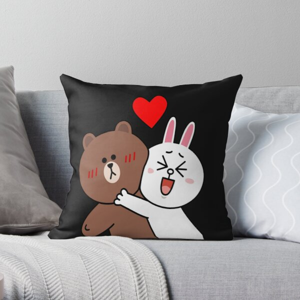 Cute lovers forever Throw Pillow