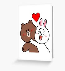 Cute lovers forever Greeting Card