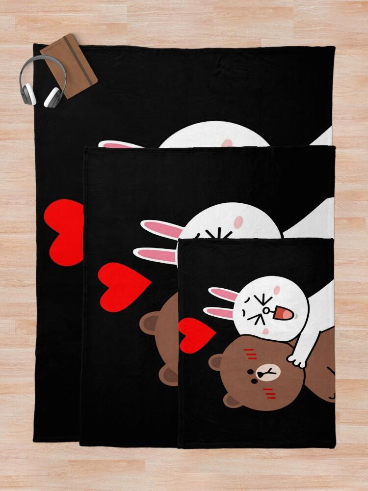 Alternate view of Cute lovers forever Throw Blanket