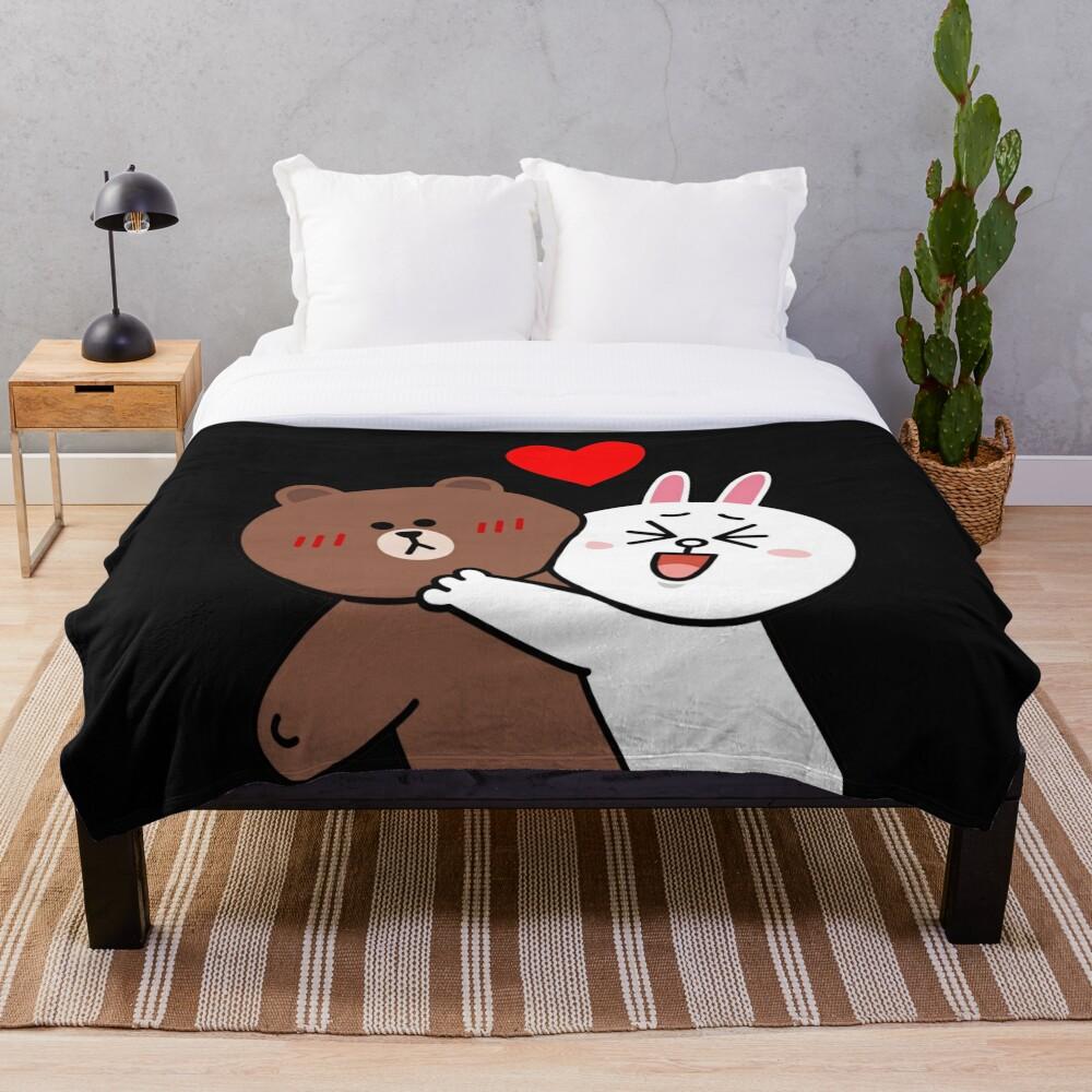 Cute lovers forever Throw Blanket