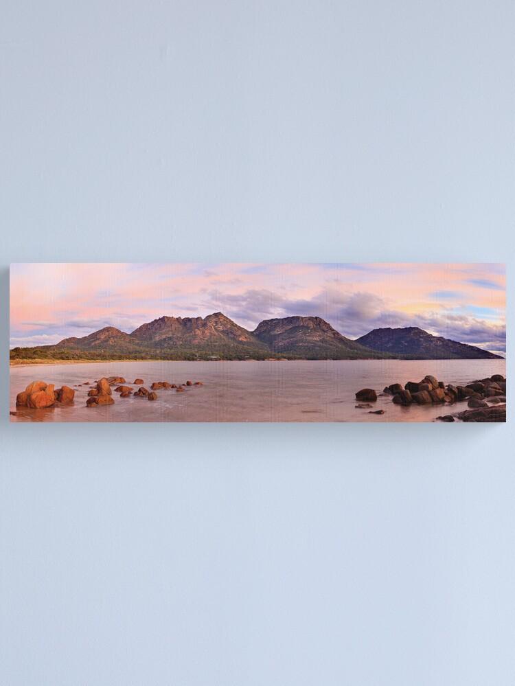Alternate view of Coles Bay, Freycinet National Park, Australia Canvas Print