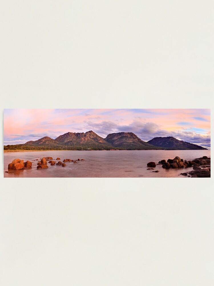 Alternate view of Coles Bay, Freycinet National Park, Australia Photographic Print