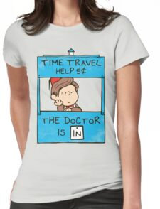 The Doctor Is In Womens Fitted T-Shirt