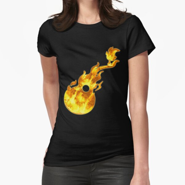 Flaming Guitar - For Kelly Fitted T-Shirt