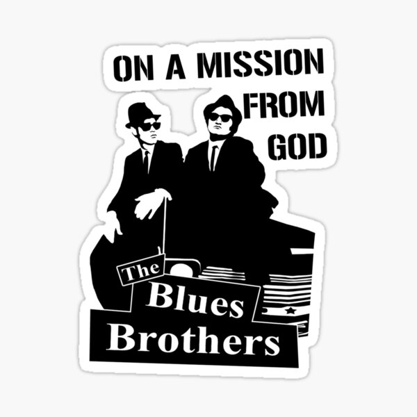 The Blues Brothers Pegatina