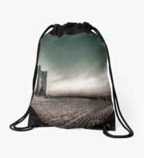 Facing the Storm Drawstring Bag