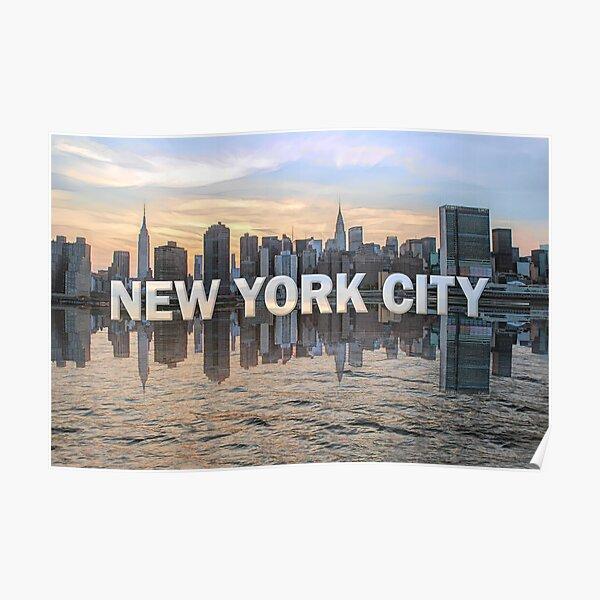 New York City Skyline (painted) Poster