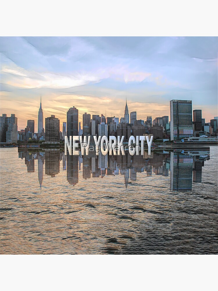 New York City Skyline (painted) by RayW
