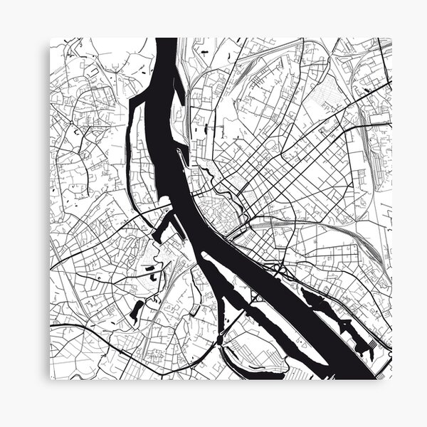 Riga Map City Map Poster Black and White, USA Gift Printable, Modern Map Decor for Office Home Living Room, Map Art, Map Gifts Canvas Print