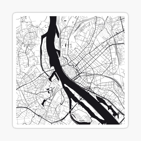 Riga Map City Map Poster Black and White, USA Gift Printable, Modern Map Decor for Office Home Living Room, Map Art, Map Gifts Sticker