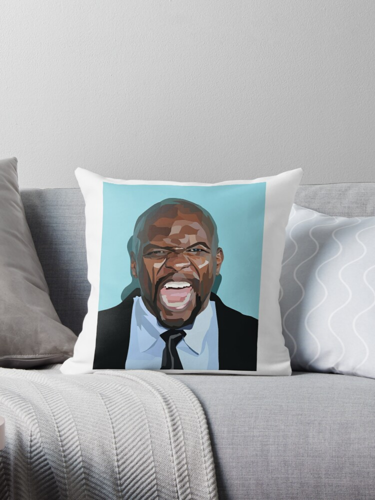 Vector Portrait Terry Crews Throw Pillows By Oliviasprng Redbubble