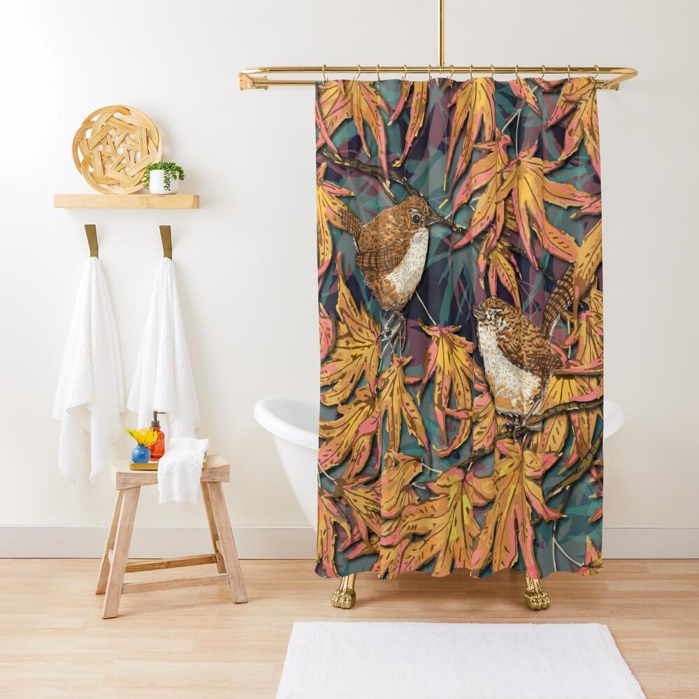 Garden Wrens Shower Curtain
