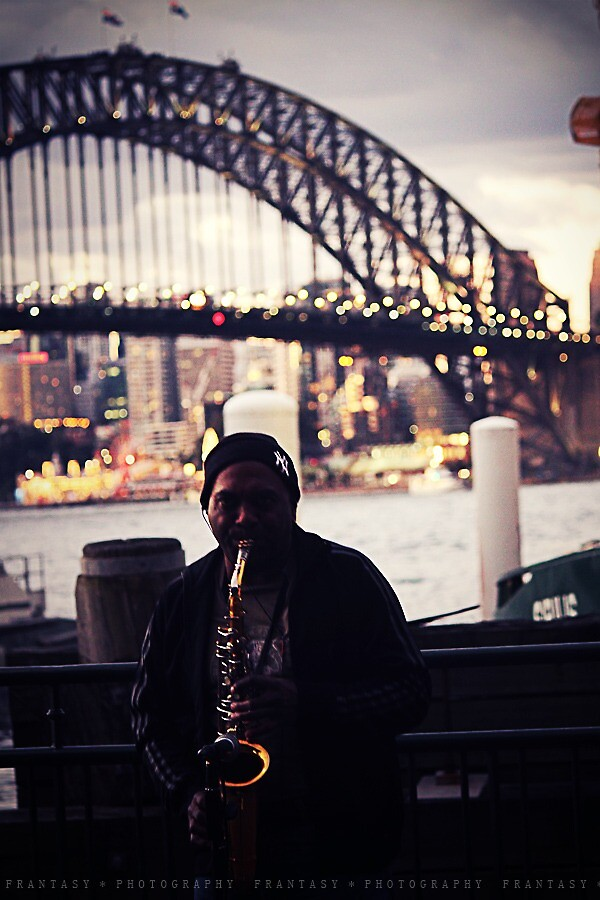 Man with his saxophone by fRantasy
