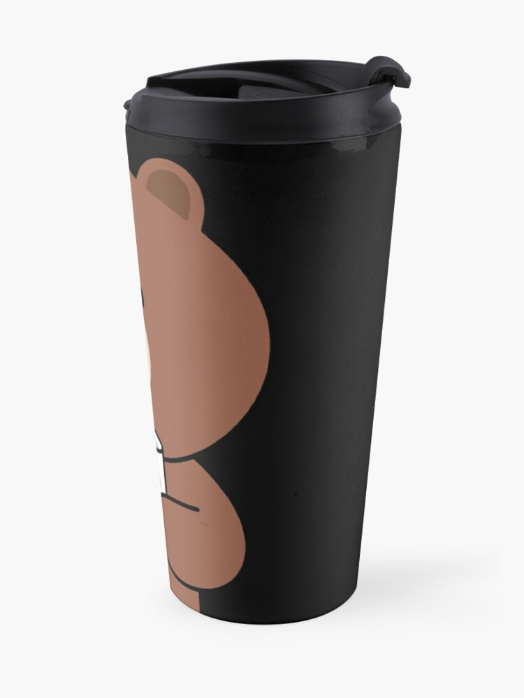 Alternate view of Cute brown bear and Cony Travel Mug
