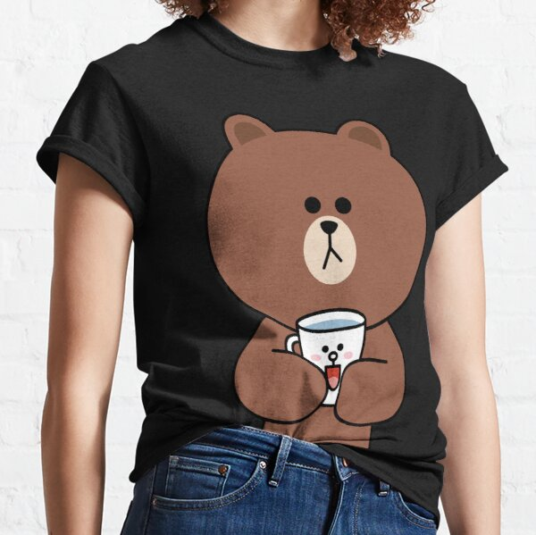 Cute brown bear and Cony Classic T-Shirt