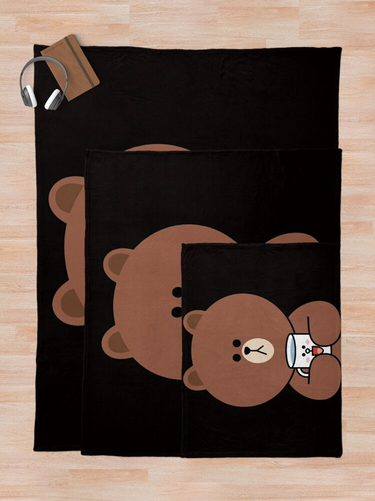 Alternate view of Cute brown bear and Cony Throw Blanket