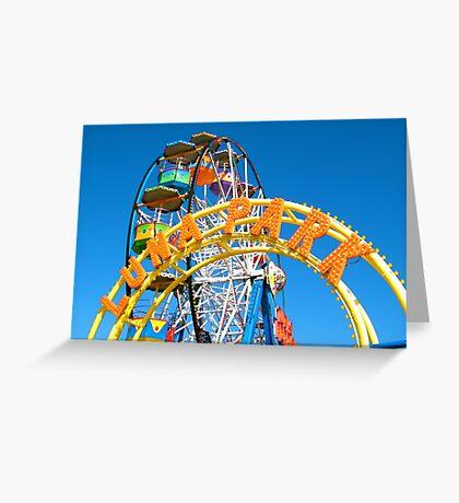 Luna Park, Scarborough Greeting Card