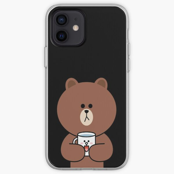 Cute brown bear and Cony iPhone Soft Case