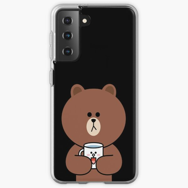 Cute brown bear and Cony Samsung Galaxy Soft Case