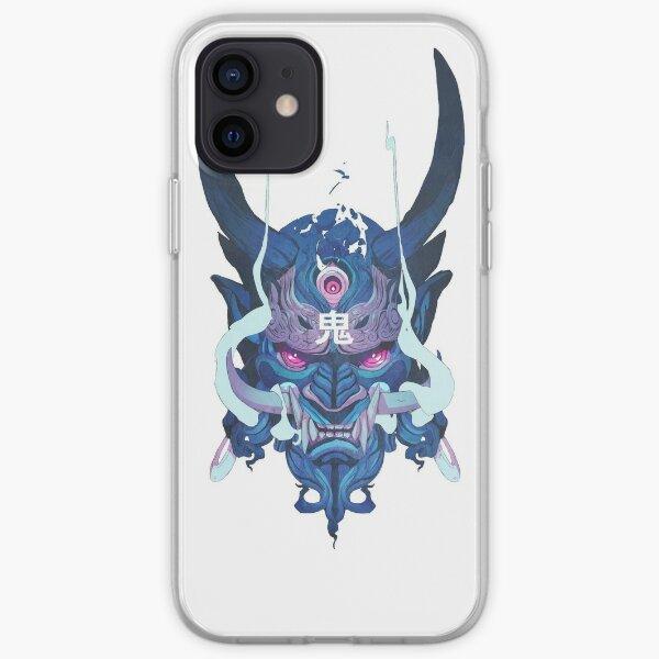 bleu Oni Coque souple iPhone