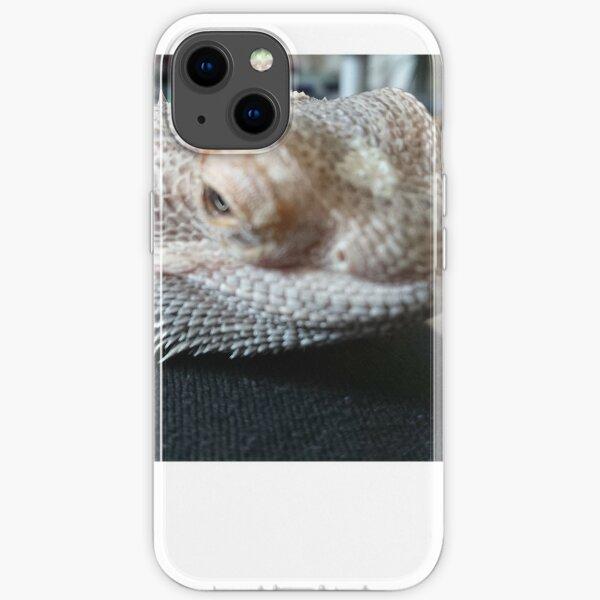 Bearded dragon head closeup  iPhone Soft Case