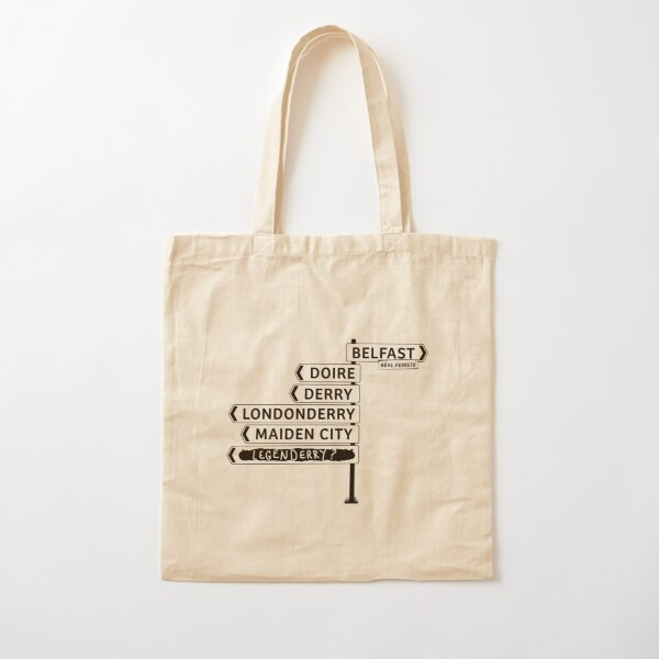 Copy of Derry/Londonderry - Belfast signposts Cotton Tote Bag