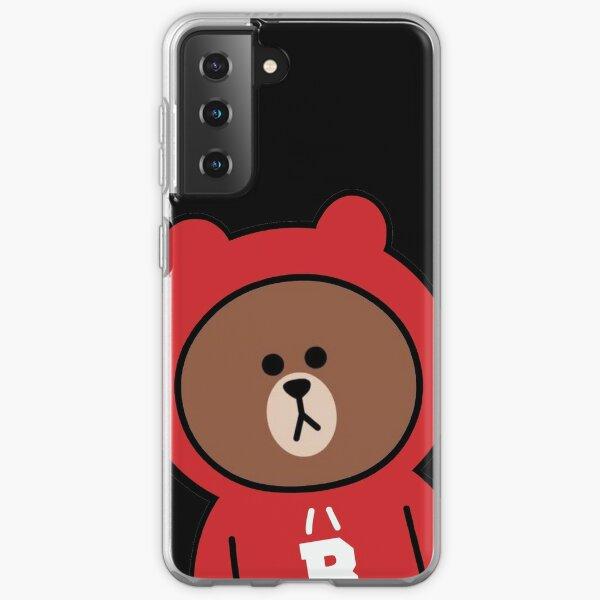 Cute brown bear hoodie Samsung Galaxy Soft Case