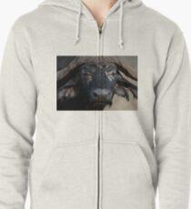 African Buffalo Zipped Hoodie