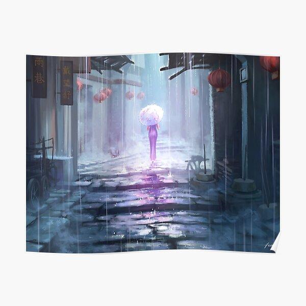 Rainy Alley Poster